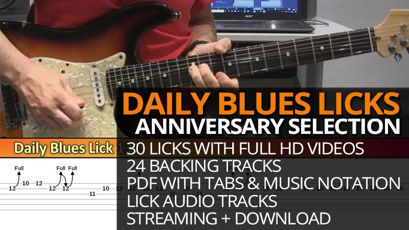 Daily Blues Licks Anniversary Selection