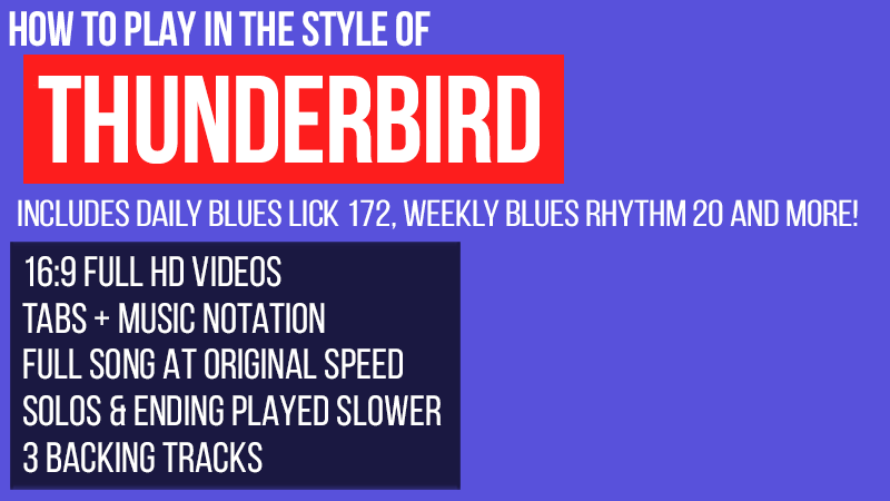 How to play in the style of Thunderbird by ZZ Top